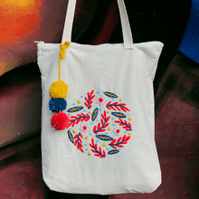 BOLSO DE TOCUYO RED FLOWERS by Kactus