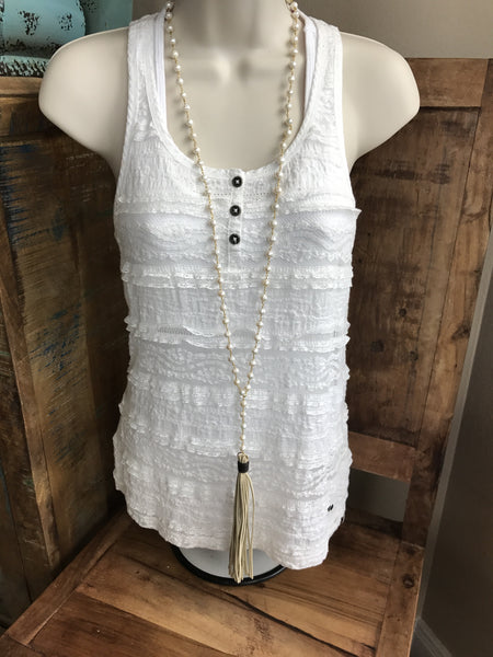 Freshwater Pearls on Chain Necklace