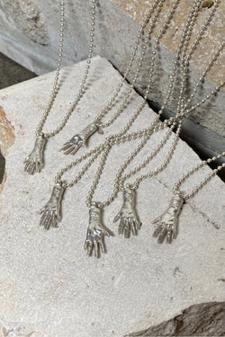 Silver Glove Charm Necklace