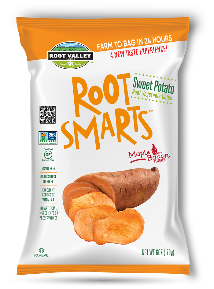 Sweet Potato Maple Bacon Root Vegetable Chips