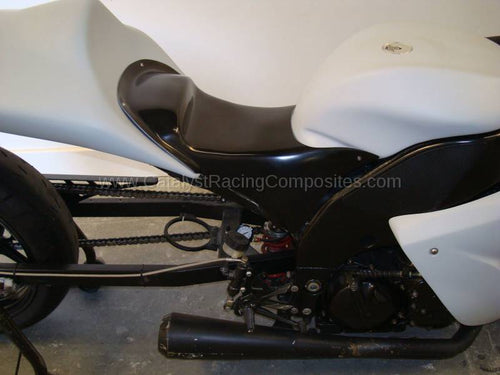 KAWASAKI ZX10 <br>06-07' <br>LOWERED DRAG STEP SEAT