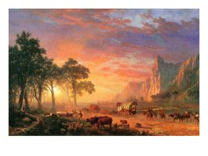 Albert Bierstadt  early American landscapes Sunsets sweeping color of Western states