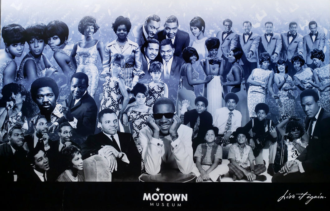 Motown Stars Poster,Dianna Ross Supreme's,Stevie Wonder,Smokey Robinson's Miracles, Marvin Gaye, Gladys Knight