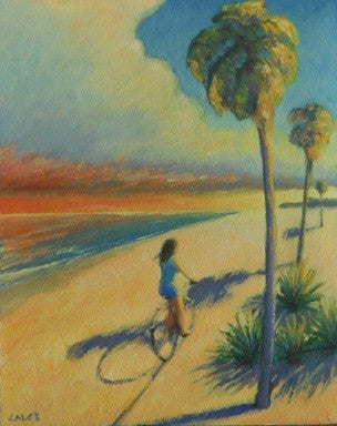 Beach, Florida, Tropical, Nature, Bicycle, Sunset, Vacation, Seven North Art