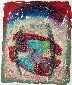 Abstract Hand-produce colorful Intaglio Print Etchings handmade paper
