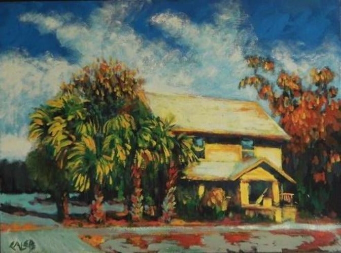 Caleb, Corner Palms, Seven North Art, Art Gallery, Clearwater, Colorful