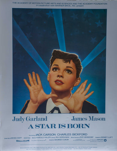 A Star is Born movie 1983 re-release Poster Judy Garland and James Mason 1983