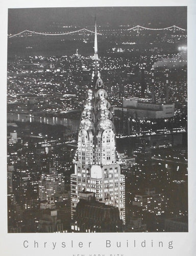Chrysler-Building-New-York-City-Black & White old Photograph Art Gallery Clearwater