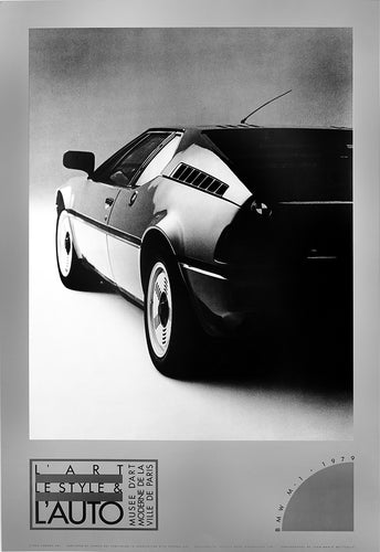 Vintage silver 1979 BMW classic car poster The Art The Style & The Car