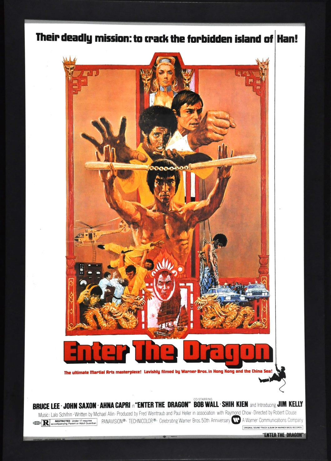 Bruce Lee Martial arts Karate master Framed poster from the Enter the Dragon movie