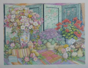 Byrne-Arthur-English-Roses-with-Screen-18x23-ISS-Original-Limited-Edition-Metal-Plate-Lithography-list-350-our-225-e1447099749788-300x2.jpg