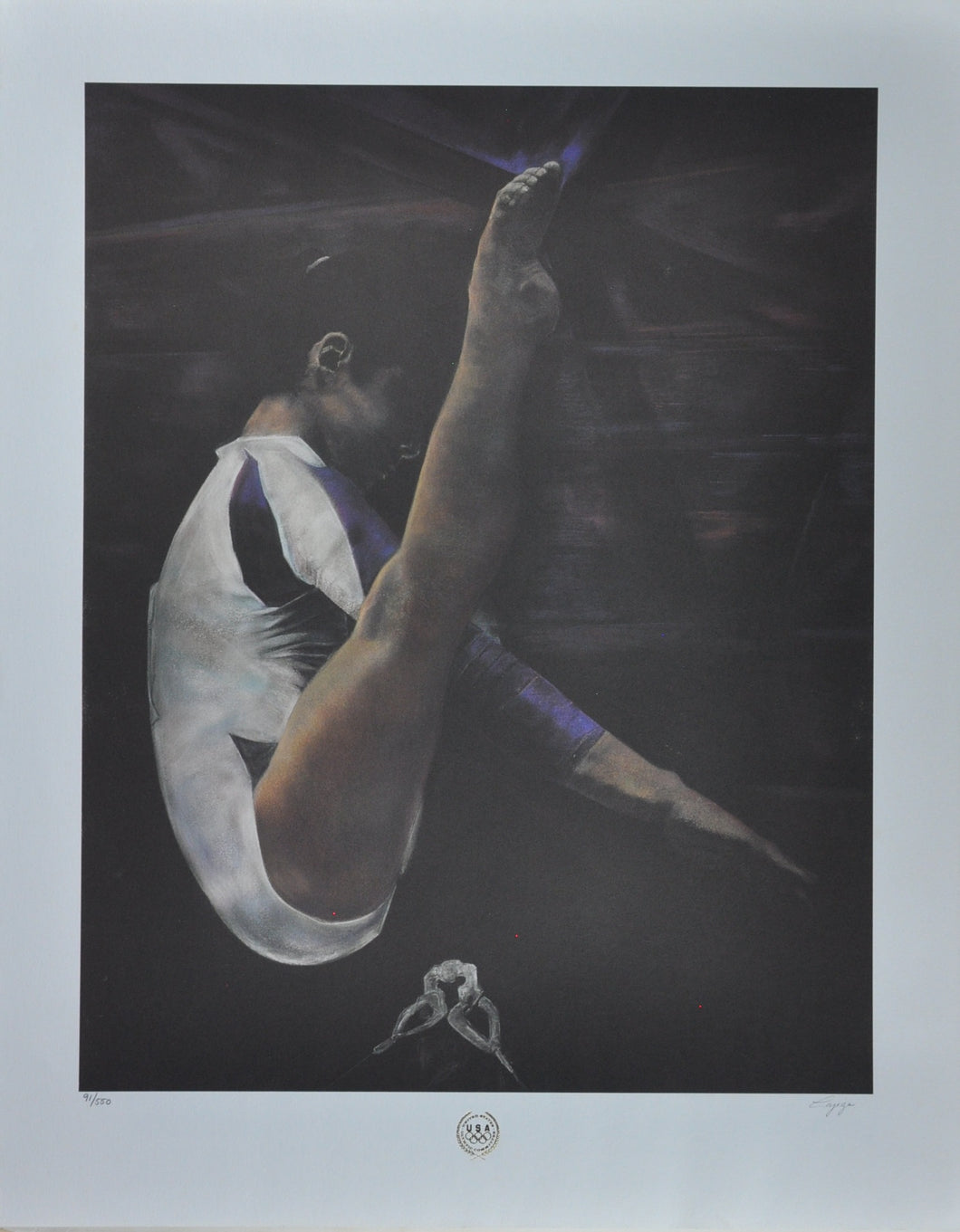 Cajega - Official Olympic Poster - 28 x 22 Signed and Numbered Limited Edition Poster
