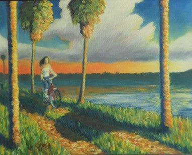 Caleb-CyclistaLakeRoad-16X20-TNO-Original-Acrylic-Painting-On-Heavy-Rag-Paper-Board-List550-OurPrice425-e1445292443979.jpg