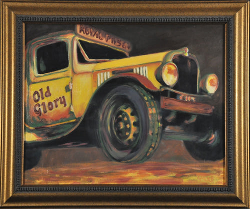 old glory car vintage yellow original