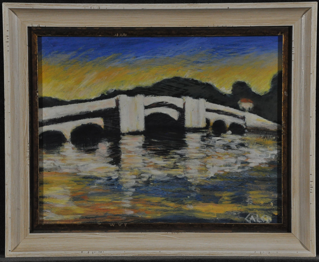 snell bridge water oil painting