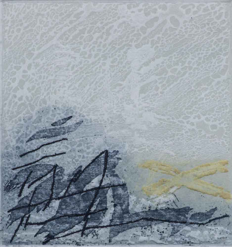 Carl ''Abstract Ocean'' Original Limited Edition Hand made Etching Paper Size 12x10 Image Size 3.5x3.25
