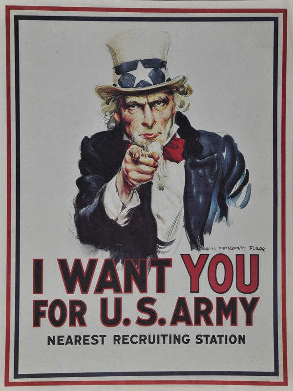 World War 2 Army recruiting Poster