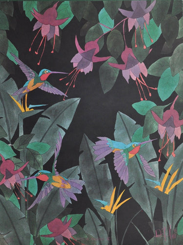 Goad, Dan - Birds Of Paradise IV - 29 X 22 Limited Edition Signed/Numbered Offset on Paper