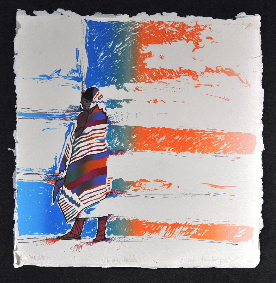 Amado Pena American Indian Original Silkscreen