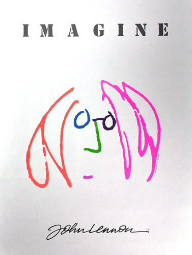 John Lennon Imaging Drawing Print