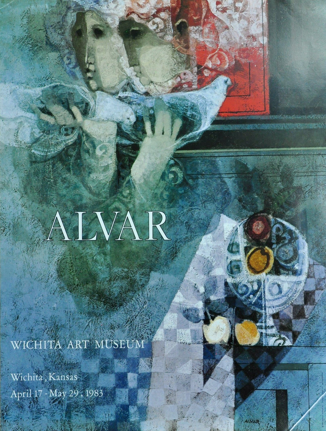 Artist Àlvar show poster from 1983 at the Wichita Art Museum