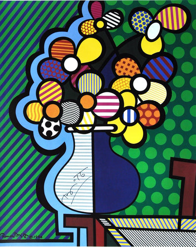 flowers pop art Britto colorful fun abstract