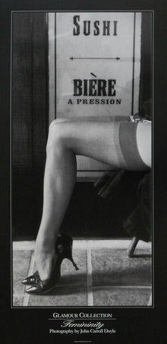 Femininity sexy Sushi legs-poster John-Carroll-Doyles-Glamour-Collection--