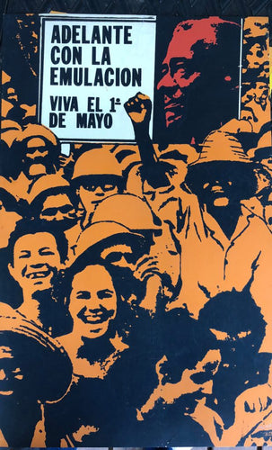 Cuban Art Poster Social People in the street caring Propaganda signs
