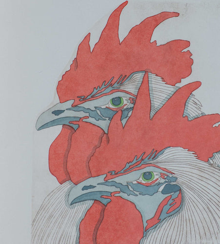 Ewayz, C. ''Cock a doodle-do'' Original etching 22x15.5 I.14x11