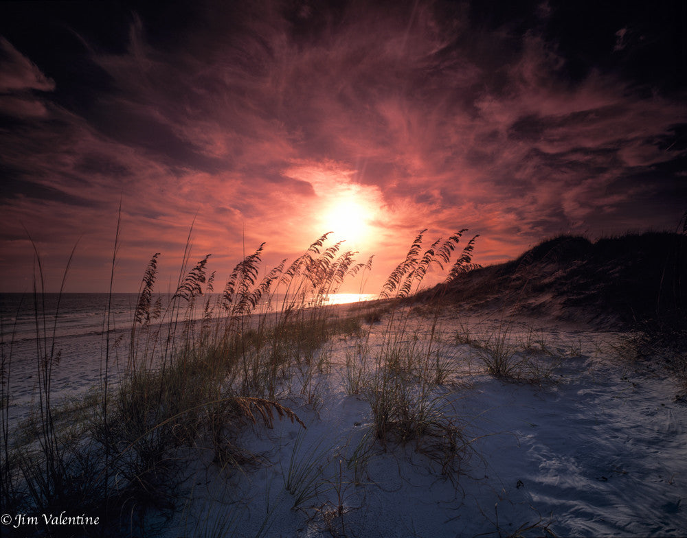 deer lake dusk sunrise sunset twilight pink gold maroon purple florida state parks beach ocean sand dunes