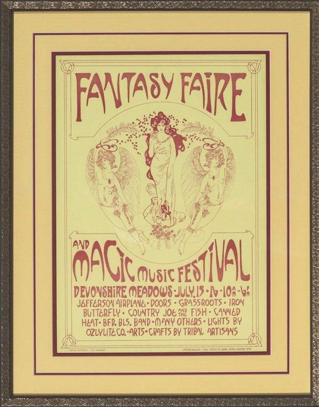Harvard, Penny - Fantasy Fair & Magic Mountain Festival 1997 - First Edition Framed 27.5 x 21.25 Concert Poster