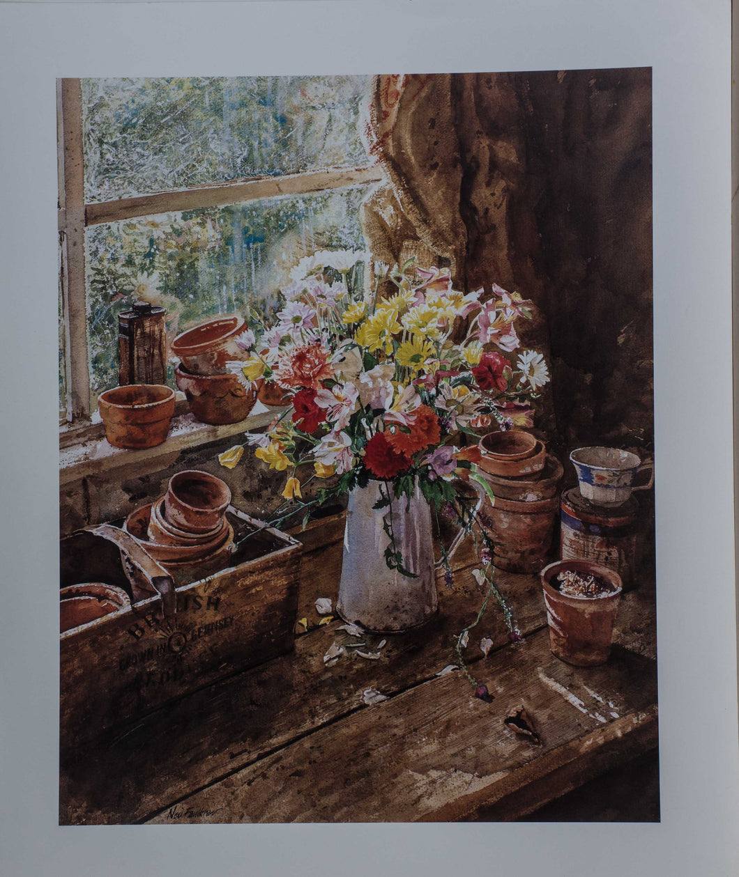 Faulkner, Mixed Flowers'' 20x16