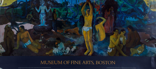 Boston Fine Art Museum Poster Paul Gauguin native american world culture connecting with nature.