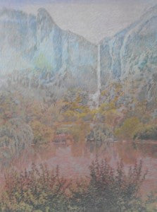 "Gladson Carson ""Atmospheric Perspective, Under the Falls"" 29.5x21.5 Poster"