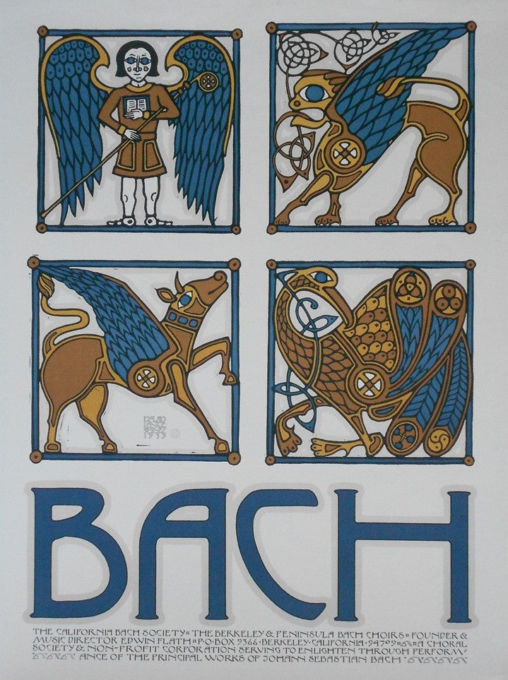 David Lance Goines Poster for 1973-California-Bach-Society