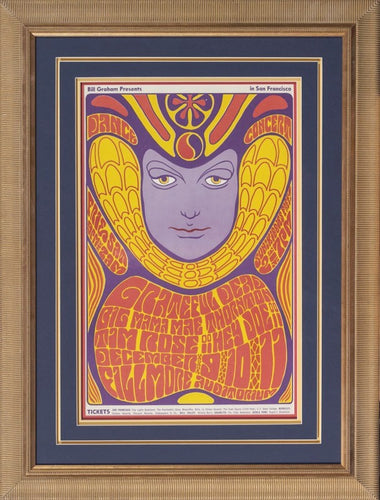 Wilson, Wes - Grateful Dead Dance Concert 1966 - Second Edition Framed 33 x 24.5 Concert Poster