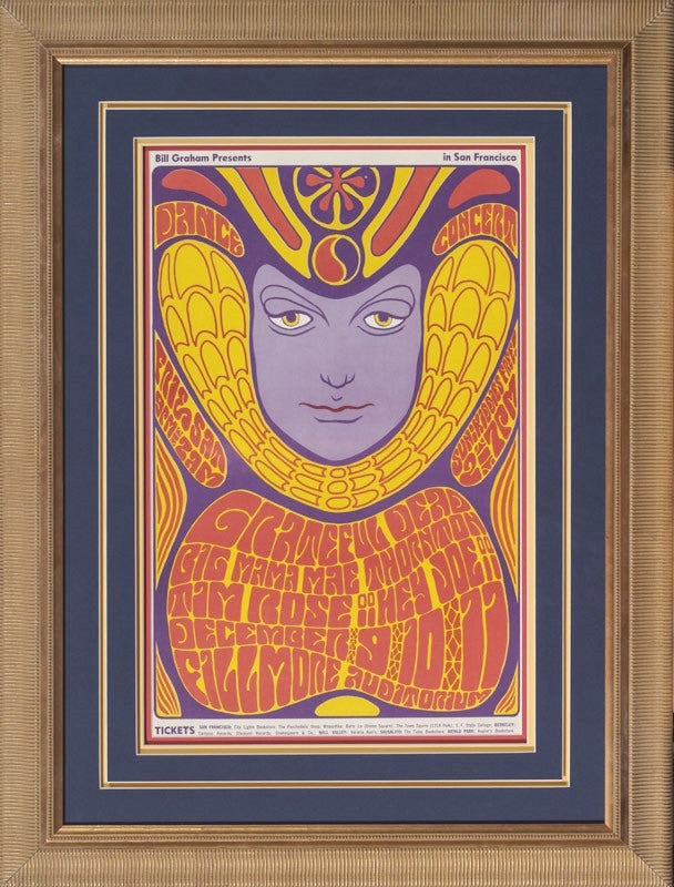 Grateful Dead 1966 Rock & Roll Dance Concert poster - Second Edition Framed 33 x 24.5