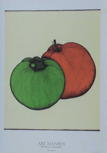 Hansen. ''Tomato and green pepper'' 26x26