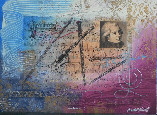 "*Hewitt, A. ""Mozart Woodwind I"" 17x23 Original Painting"