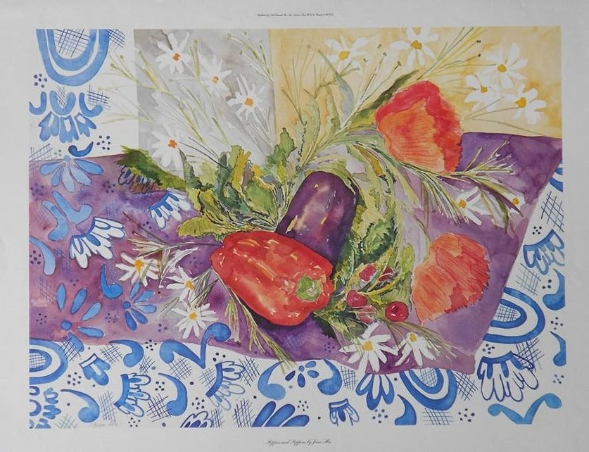 His-June-Poppies-and-Peppers-21x28-BSL-0155-Offset-Print-list-38-ours-18-slight-damage-e1449071404701.jpg