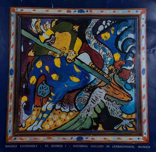 Kandinsky, Wassily ''Saint George 1' Poster for a show in lenbachhaus, Muinch Germany.