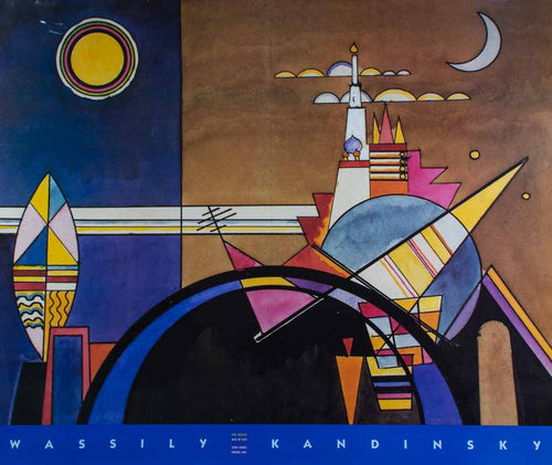 Kandinsky, Abstract Colorful Fun Outerspace ''The Great Gate of Kiev'' Event Poster, Paris 1990