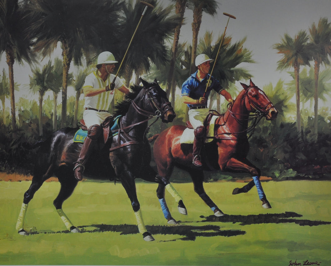 Polo horses palm trees