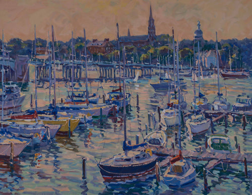 Mitra ''Annapolis Sunset'' Hand-made Etching. Image 23x29.5.