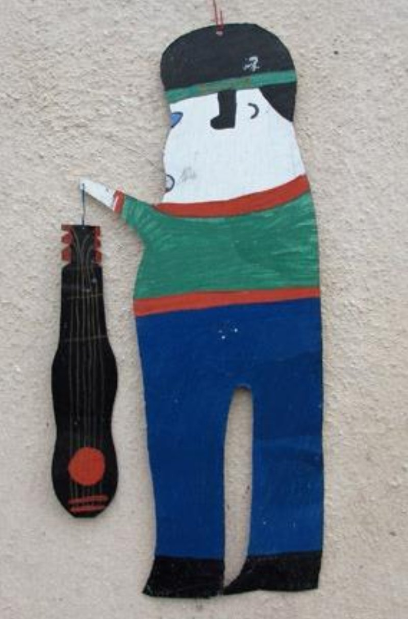 Elvis Presley cut out of Tin by Outsider Folk Artist R.A. Miller
