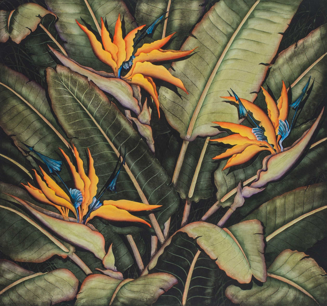 Mitra, Dan ''Birds of Paradise'' Original etching hand printed and painted by the artist.