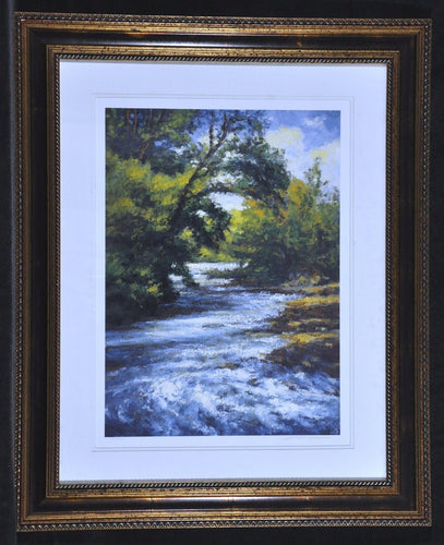 Tree lined River scene Peter Pettegrew Print
