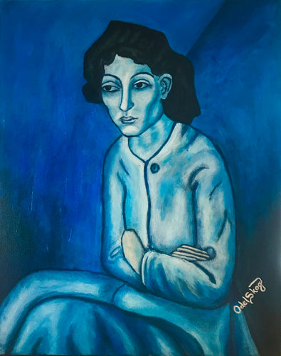 Picasso Blue lady