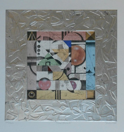 R.-Hall-Time-Force-II-21x21-Ab4-0013-Original-Handmade-Ltd-Ed-Etching-with-Collage-and-Embossed-Silver-Borders-list-450-our-275-e144959.jpg