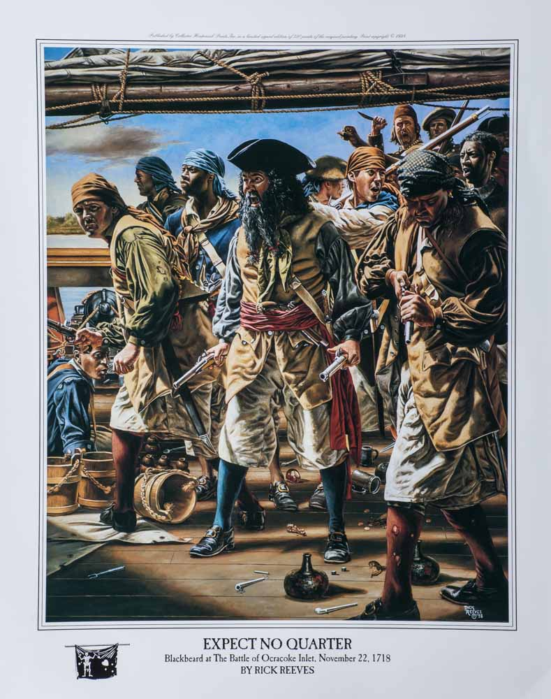 Blackbeard battle pirates